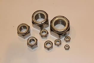 300 series nylon lock nuts