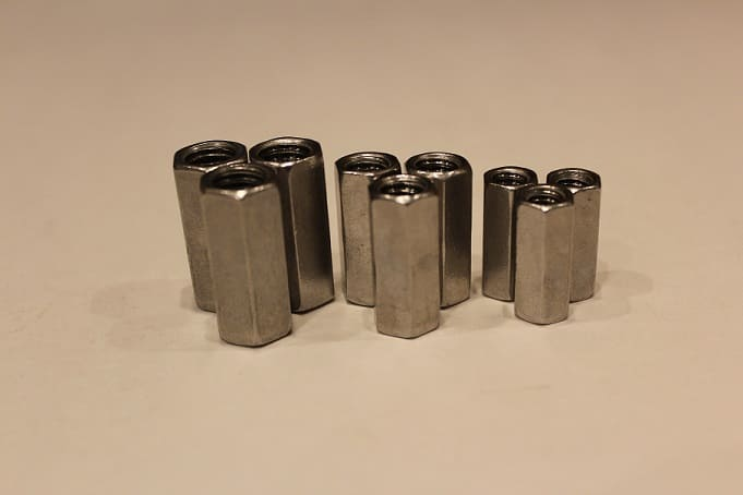 aluminum coupling nuts